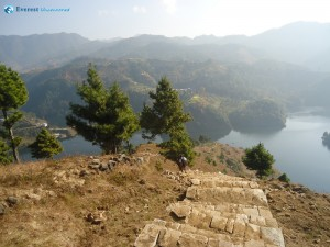 39. Steps down to artificial lake