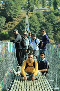 43. Team at Suspension Bridge