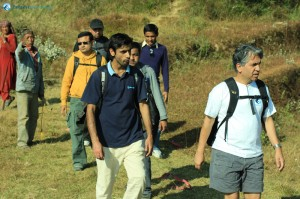 70. Rudra Pandey directing the deerwalk team