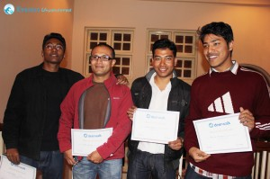 Programmers of the Year 2012: Manoj Shrestha, Pratik Manandhar, Nhurendra Shakya, Uttam Man Karmacharya