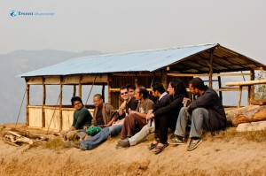33. Resting near Bamboo Cottage