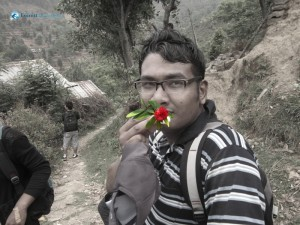 57. Nitish eats Rhododendron