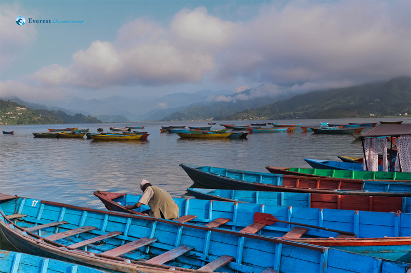 Empty Boats in Phewa Lake