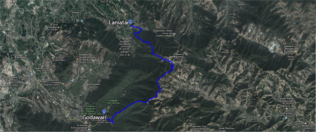 Hiking from Lamatar to Godavari