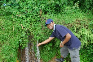 15. The mini waterfall