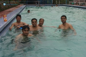 19.Guys enjoying in the pool