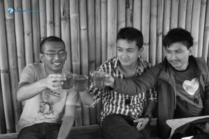 31.Morning Tea in Bamboo Cottage