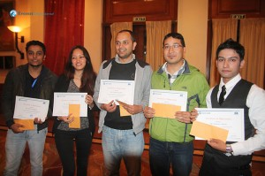 The brightest minds in Deerwalk: Aman A, Biswas L, Prabin P, Sanshila G & Sanu Raja M won the Programmers of the Year title