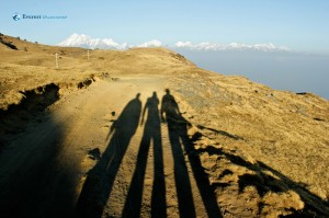 30. Hikers in shadow