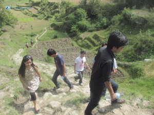 7. Climbing the lele hill