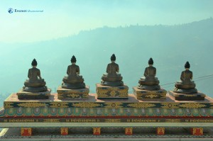 Welcoming by five Buddhas in Seto Gumba