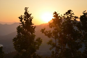 Magnificent sunset view from Nuwakot