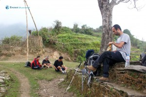 2. A rest before reaching Saurpani Village