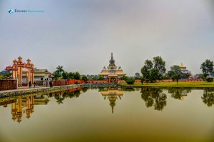 20. Lake and temples in Lumbini Nepal