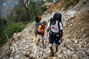 31. Landslides made the trail even tougher