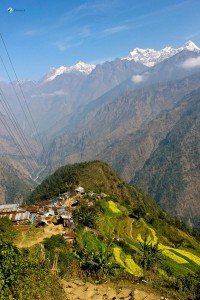 33. Lapsibot Village along with Himalayas