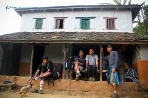 6. At Bikram Shrestha's house in Saurpani Village