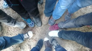 41. Divided by shoes, United by photo shoot