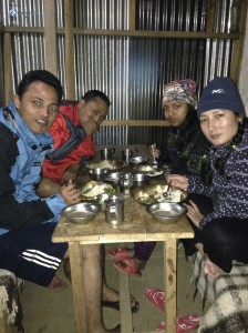 20. First meal of the trek
