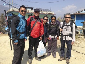5. All set for the trek