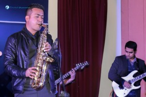 Manish on saxophone