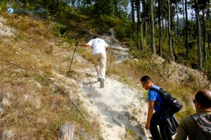 8. Climbing up the steep hill