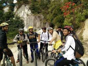 Cycling to Jhor Via Budhanilkantha
