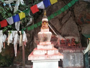 24. Buddha stupa and flags mentioned in Vipassana