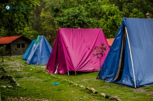 39. Staying in tent be like
