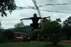 39. Flying Monk