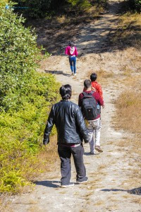 12. Hiking in single file