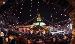 Newly reconstructed Bouddhanath stupa after Earthquake Featured