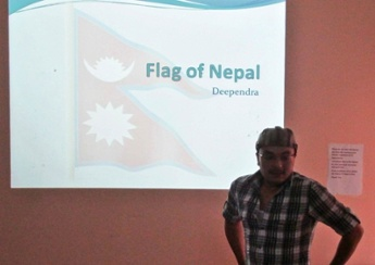 'Nepali Flag' by Deependra Shrestha