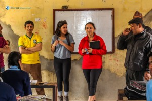 14. Erica and Mahika in the classroom
