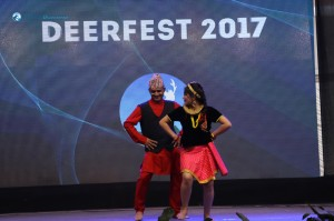 Surendra and Osheen dancing to Purba Paschim Rel