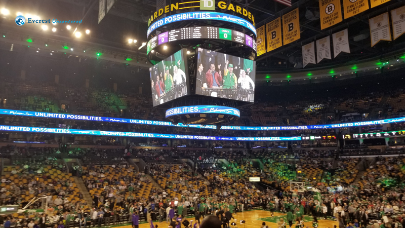 NBA TD Garden Jumbo Screen