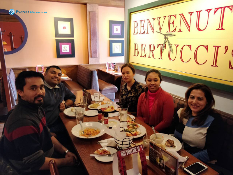 11. Lunch with Muna Bhauju and Ashay Dai, Bertuccis's