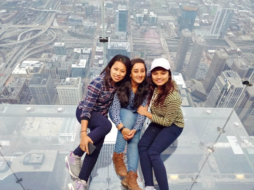 103rd Floor of Willis Tower, Chicago, Illinois - One of the tallest building in the world.