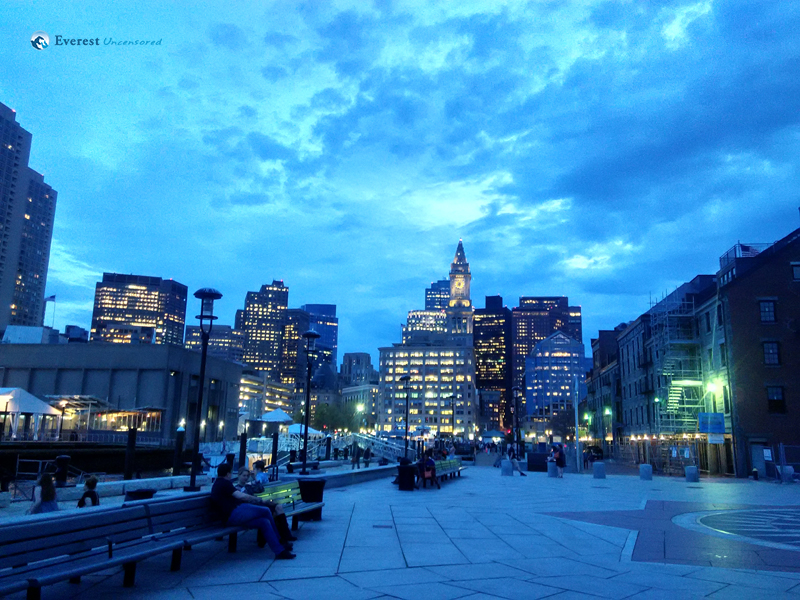 Downtown Boston at Evening