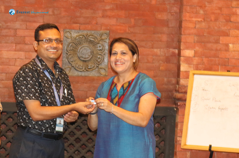 31. Kanchan gets the Fourth prize from Muna Joshi