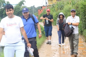 8. Walk begins towards Nagarkot