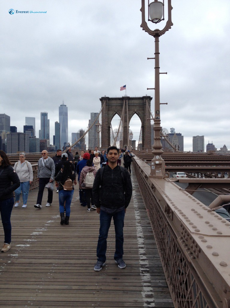 Chlling at the Brooklyn Bridge