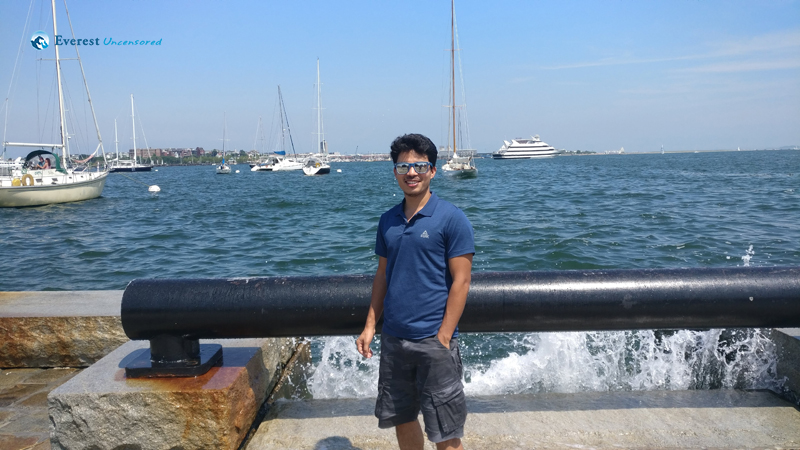 Near to Boston Harbor