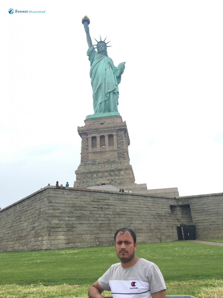 InFront of Statue of Liberty