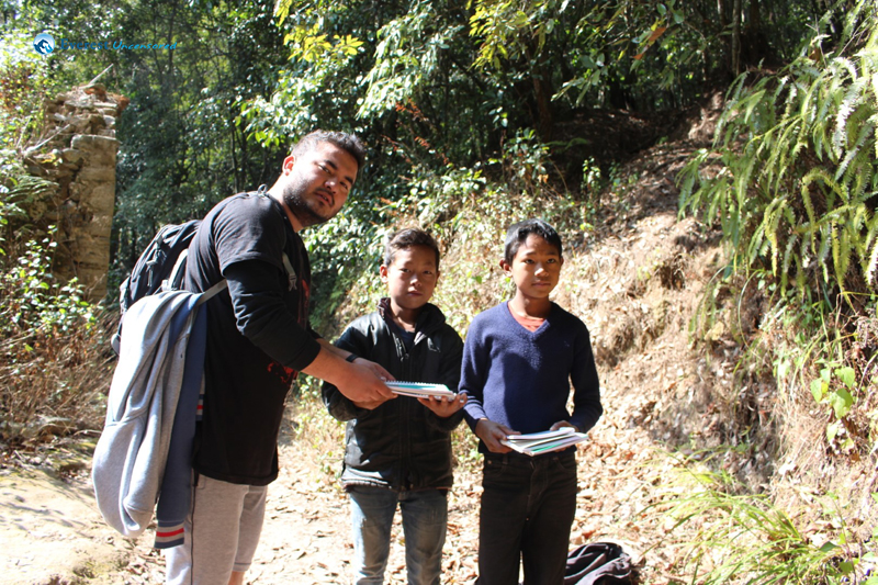12. With Some Local Kids