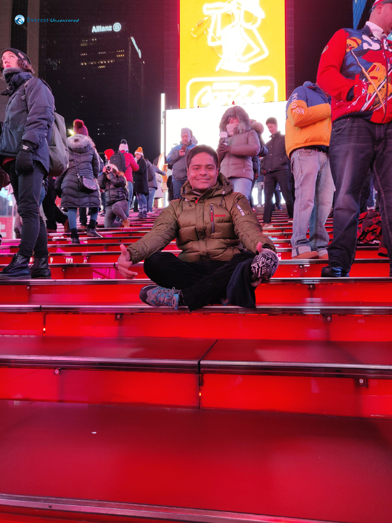 Red Staris In Times Square
