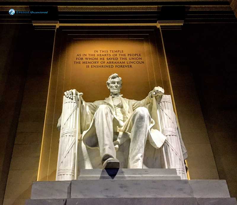 Abraham Lincoln In The Lincoln Memorial