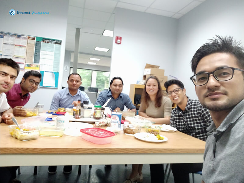 Lunch Time At Office