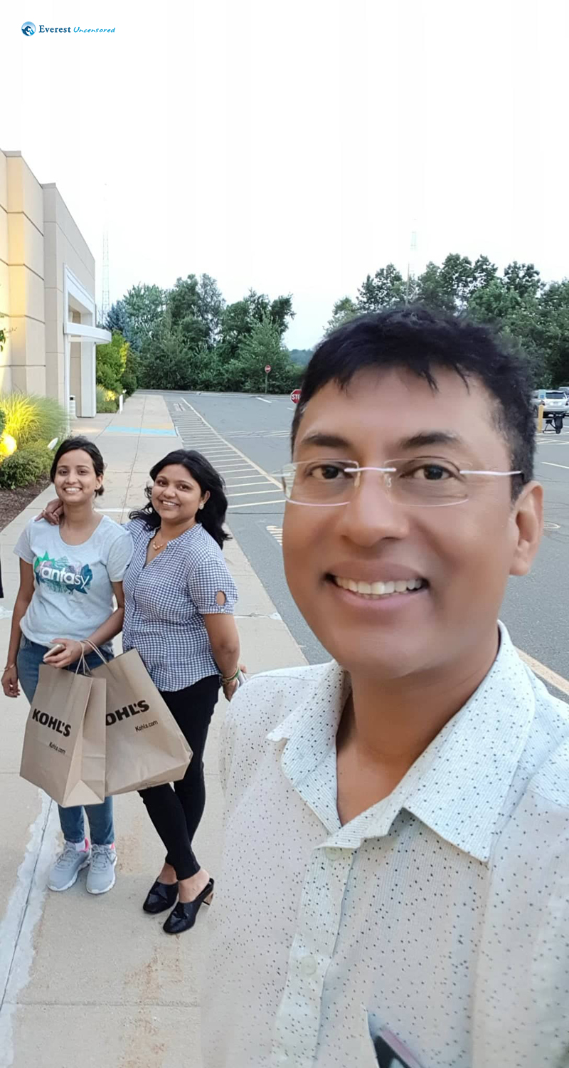 Cheerful Ladies After Shopping