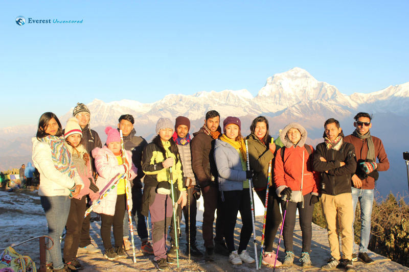 15.the Group In The Backdrop Of Dhaulagiri